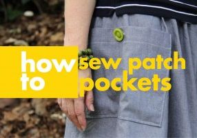 how to sew patch pockets title card League of Dressmakers